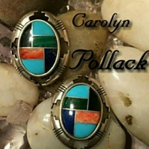 Carolyn Pollack Inlay Earrings